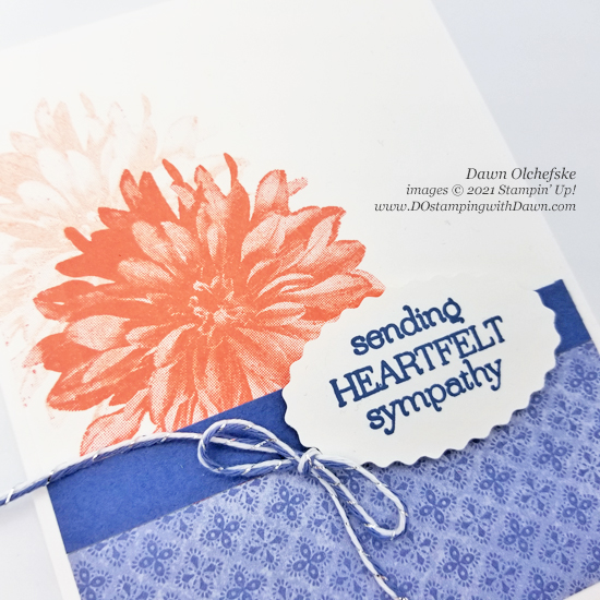 Stampin' Up! FREE Sale-a-Bration Delicate Dahlias stamp set card by Dawn Olchefske coming August 3 #dostamping #HowdSheDOthat-c