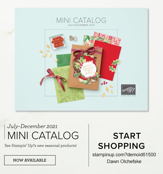 Stampin' Up! 2021 July-December Mini Catalog shop with Dawn Olchefske at stampinup.com?demoid61500