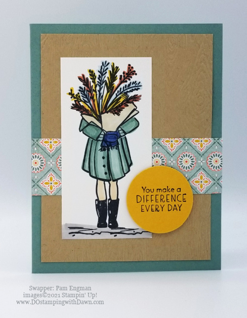 Stampin' Up! Delivering Cheer cards shared by Dawn Olchefske #dostamping #thankyoucards (Pam Engman)