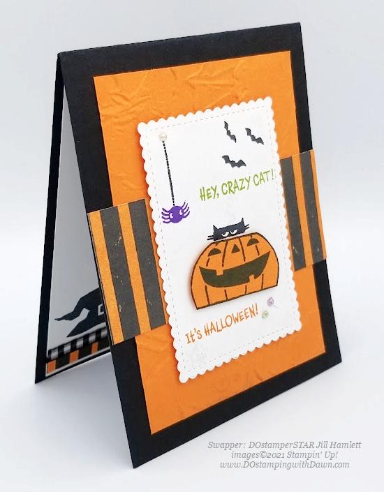 Stampin' Up! Clever Cats cards shared by Dawn Olchefske #dostamping #halloween (DOstamperSTAR Jill Hamlett)