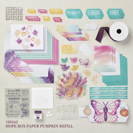August 2021 Hope Box Paper Pumpkin Refill Kit shop with Dawn Olchefske #dostamping #paperpumpkin
