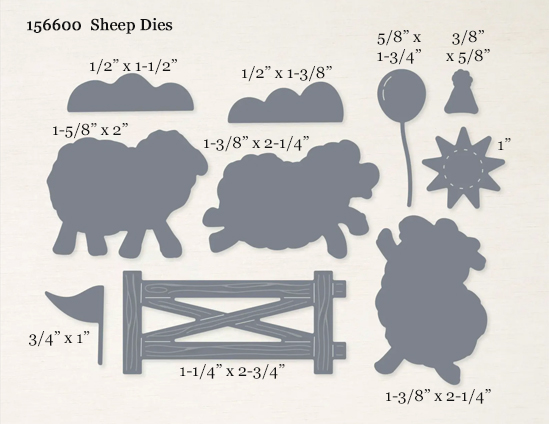 Stampin' Up! Sheep Dies-156600 Sale-a-Bration FREE Choice SHOP with Dawn Olchefske #dostamping #howdSheDOthat