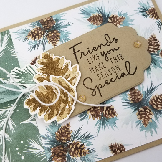 Stampin' Up! Painted Christmas Suite card by Dawn Olchefske Stamping with the STARS sketch challenge #DOswts370 #dostamping #HowdSheDOthat #DOstamperSTARS cu