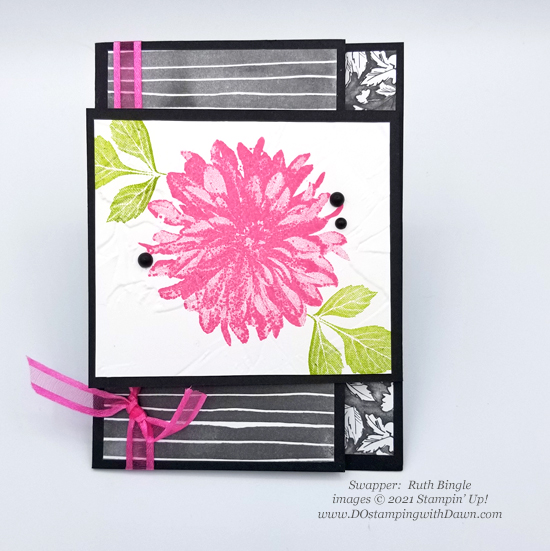 FREE Sale-a-Bration Beautifully Penned Designer Series Paper swap cards shared by Dawn Olchefske #dostamping #stampinup (Ruth Bingle)