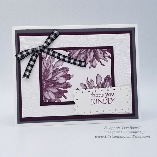 FREE Sale-a-Bration Delicate Dahlias swap cards shared by Dawn Olchefske #dostamping #stampinup (Lisa Bowell)