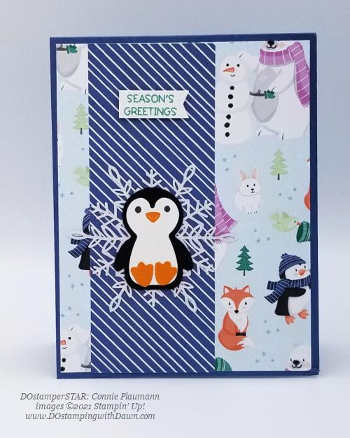 FREE Sale-a-Bration Penguin Playmates Designer Series Paper swap cards shared by Dawn Olchefske #dostamping #stampinup (DOstamperSTAR Connie Plaumann) (1)