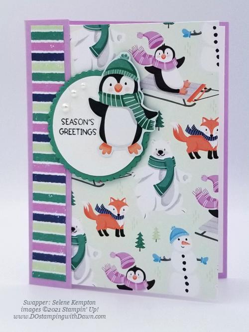 FREE Sale-a-Bration Penguin Playmates Designer Series Paper swap cards shared by Dawn Olchefske #dostamping #stampinup (Selene Kempton) (1)