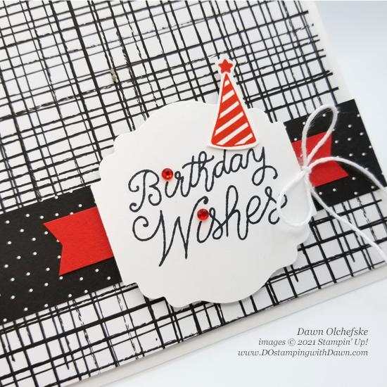 Stampin' Up! Little Delights birthday card by Dawn Olchefske #dostamping #HowdSheDOthat #stampinup #cardmaking cu