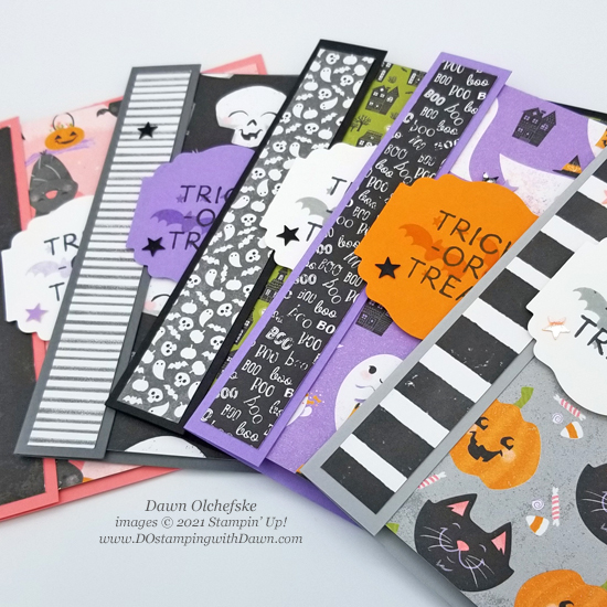 Stampin' Up! Little Delights & Cute Halloween cards by Dawn Olchefske #dostamping #HowdSheDOthat #stampinup #cardmaking #quickandcute sp