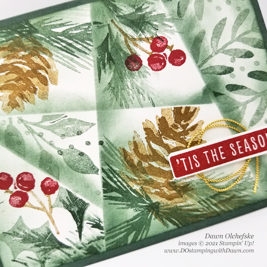 Stampin' Up! Christmas Season Stamp Set & Retiform Technique card by Dawn Olchefske for Stamping with the STARS #DOswts373 #dostamping #HowdSheDOthat #DOstamperSTARS cu