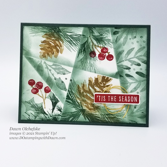Stampin' Up! Christmas Season Stamp Set & Retiform Technique card by Dawn Olchefske for Stamping with the STARS #DOswts373 #dostamping #HowdSheDOthat #DOstamperSTARS