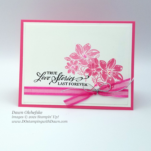 Stampin' Up! New In Color swap card by Dawn Olchefske #dostamping #elegantlysaid