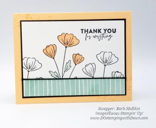 Stampin' Up! Flowers of Friendship Bundle swap cards shared by Dawn Olchefske #dostamping #flowersofFriendship (Barb Mullikin)