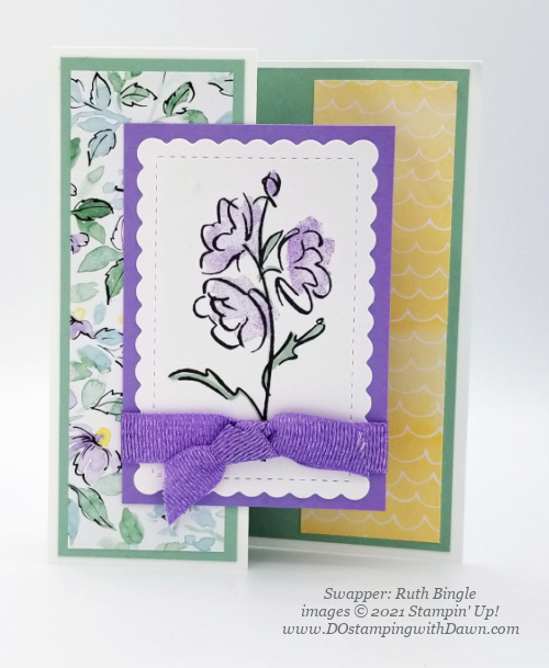 Stampin' Up! Hand-Penned Bundle swap cards shared by Dawn Olchefske #dostamping #hand-penned (Ruth Bingle)
