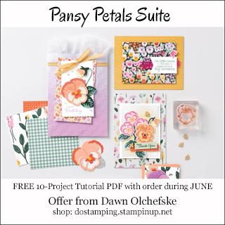 DOstamping JUNE 2021 order BONUS-FREE Pansy Petals Suite 10-Project Tutorial PDF Shop with Dawn Olchefske #dostamping-#cardmaking-#stampinup-320