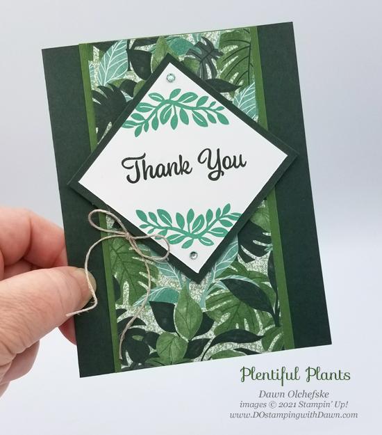 NEW Stampin' Up! Plentiful Plants sketch card by Dawn Olchefske #dostamping #HowdSheDOthat #DOswts364 #dostamperstars-P