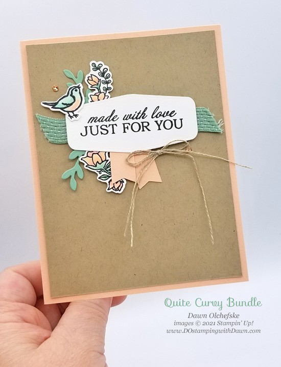 Stampin' Up! Quite Curvy Bundle card by Dawn Olchefske #dostamping #HowdSheDOthat #papercrafting #birthdaycards-p