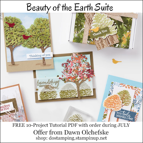 DOstamping JULY 2021 order BONUS-FREE Beauty of the Earth Suite 10-Project Tutorial PDF Shop with Dawn Olchefske #dostamping-#cardmaking-#stampinup-500