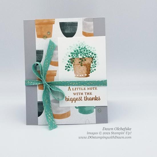 Stampin' Up! Bloom Where You're Planted Designer Series Paper sketch card by Dawn Olchefske #dostamping #HowdSheDOthat #DOswts366 #dostamperstars