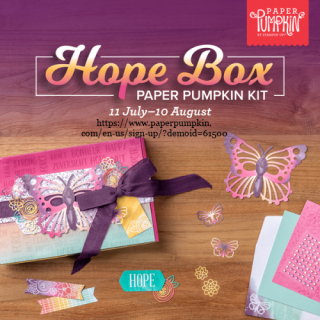 Paper Pumpkin Hope Box August 2021 kit subscribe by August 10 with Dawn Olchefske #dostamping #craftkitinthemail