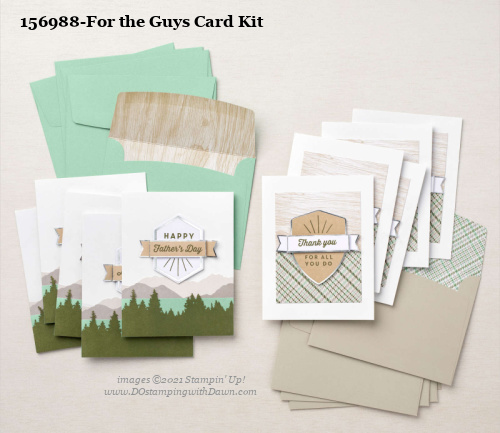 Stampin' Up! For the Guys Card Making Kit shared by Dawn Olchefske #dostamping #cardmakingkit