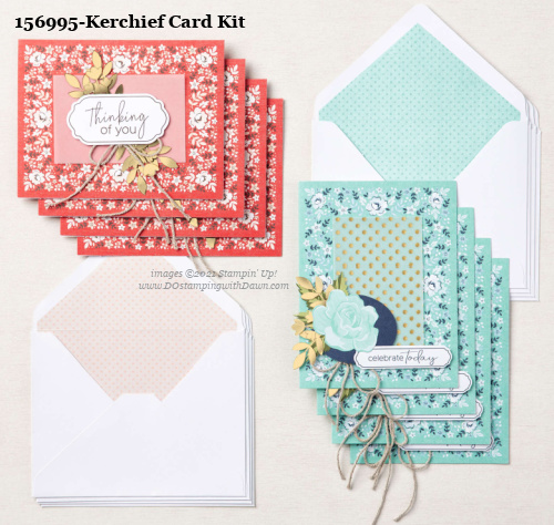 Stampin' Up! Kerchief Card Making Kit shared by Dawn Olchefske #dostamping #cardmakingkit