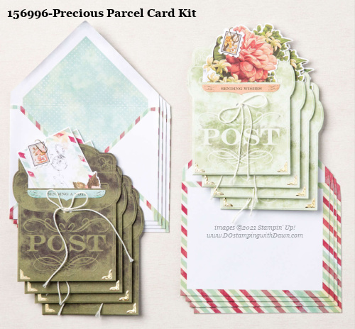 Stampin' Up! Precious Parcel Card Making Kit shared by Dawn Olchefske #dostamping #cardmakingkit