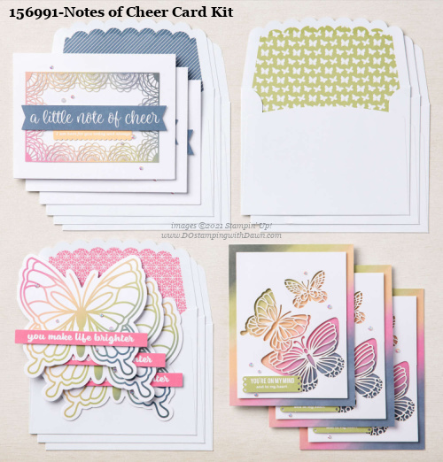 Stampin' Up! Notes of Cheer Card Making Kit shared by Dawn Olchefske #dostamping #cardmakingkit