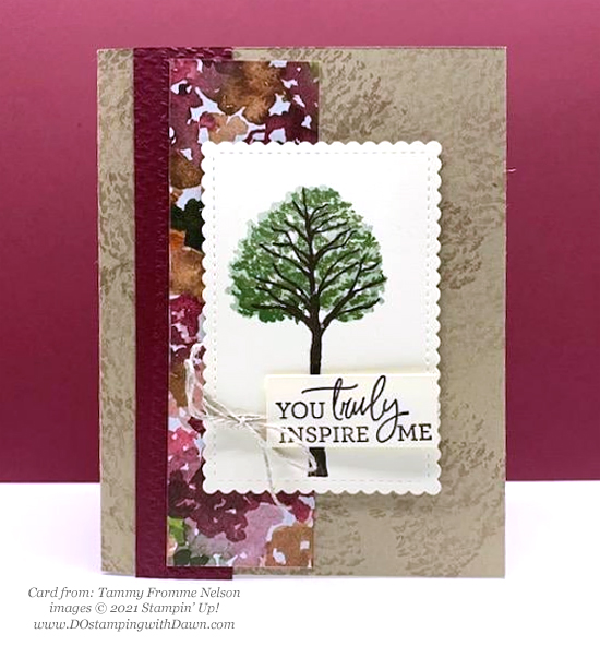 Stampin' Up! Designer Series Paper Sale Beauty of the Earth card shared by Dawn Olchefske #dostamping (-Tammy Fromme Nelson)