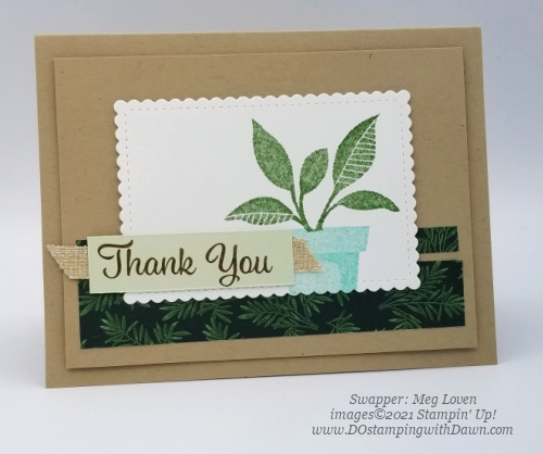 Stampin' Up! Designer Series Paper Sale Bloom Where You're Planted swap cards shared by Dawn Olchefske #dostamping #bloomwhereyoureplanted (Meg Loven)