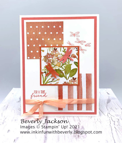 Stampin' Up! Designer Series Paper Sale Sweet as a Peach card shared by Dawn Olchefske #dostamping #youreapeach (DOstamperSTAR BeverlyJackson) (1)