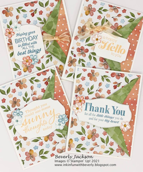 Stampin' Up! Designer Series Paper Sale Sweet as a Peach card shared by Dawn Olchefske #dostamping #youreapeach (DOstanperSTAR Beverly Jackson) (1)