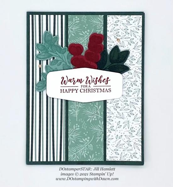 Stampin' Up! Tidings of Christmas Designer Series Paper.card shared by Dawn Olchefske #dostamping (DOstamperSTAR Jill Hamlett)
