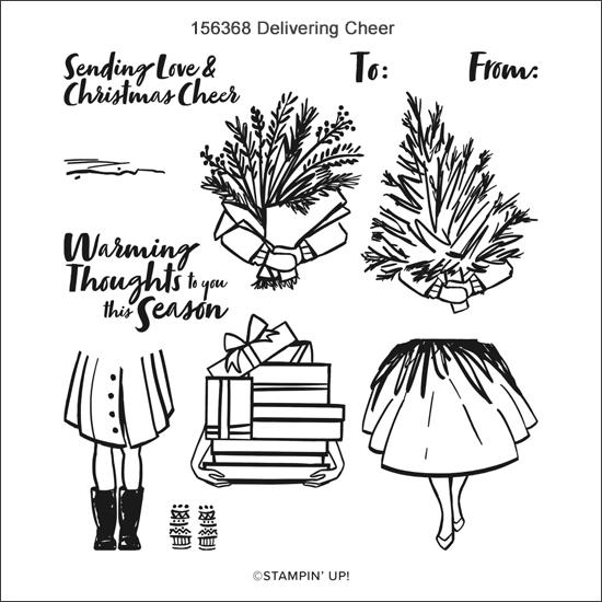 156368-Delivering Cheer stamp set from Stampin' Up! share by Dawn Olchefske #dostamping #howdSheDOthat #christmascards