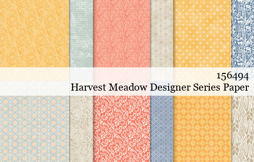 156494-Harvest Meadow Designer Series Paper shared by Dawn Olchefske #dostamping #stampinup #handmade #cardmaking #stamping #papercrafting