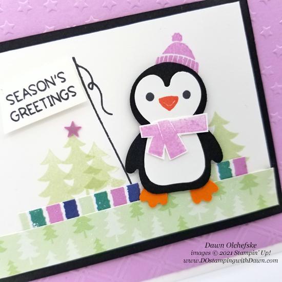 Penguin Place Bundle and FREE Sale-a-bration Penguin Playmates Designer Series Paper card by Dawn Olchefske - #dostamping #HowdSheDOthat #stampinup #penguinpunch #stampinup-cu