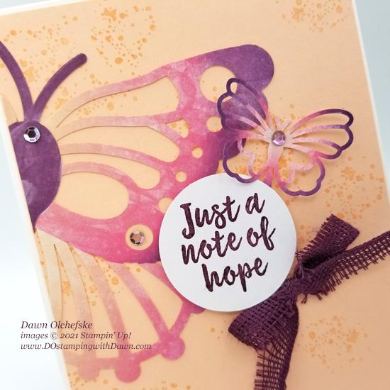 August 2021 Hope Box Paper Pumpkin Alternative Bonus Tutorialsl from Dawn Olchefske #dostamping #howdSheDOthat #paperpumpkin 2cu