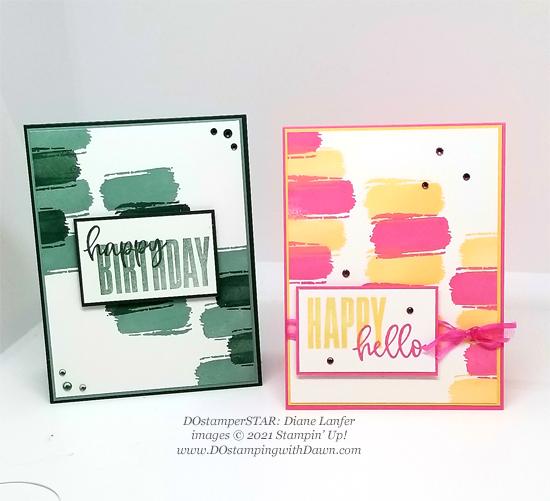 FREE Sale-a-Bration Textures & Frames swap cards shared by Dawn Olchefske #dostamping #stampinup (Diane Lanfer)