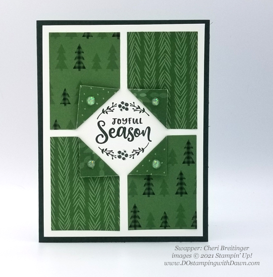 FREE Sale-a-Bration Peaceful Prints Designer Series Paper swap cards shared by Dawn Olchefske #dostamping #stampinup (Cheri Breitinger)