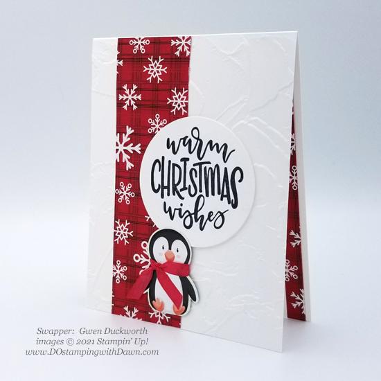 FREE Sale-a-Bration Peaceful Prints Designer Series Paper swap cards shared by Dawn Olchefske #dostamping #stampinup (Gwen Duckworth)