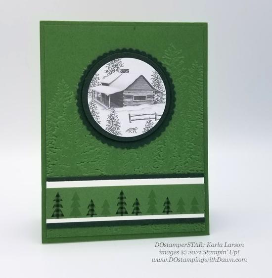 FREE Sale-a-Bration Peaceful Prints Designer Series Paper swap cards shared by Dawn Olchefske #dostamping #stampinup (Karla Larson)