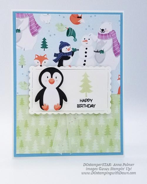 FREE Sale-a-Bration Penguin Playmates Designer Series Paper swap cards shared by Dawn Olchefske #dostamping #stampinup (DOstamperSTAR Anna Palmer) (1)