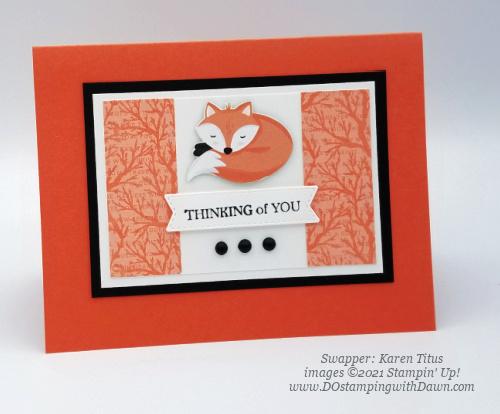 FREE Sale-a-Bration Penguin Playmates Designer Series Paper swap cards shared by Dawn Olchefske #dostamping #stampinup (Karen Titus) (1)