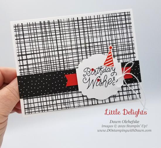 Stampin' Up! Little Delights birthday card by Dawn Olchefske #dostamping #HowdSheDOthat #stampinup #cardmaking p
