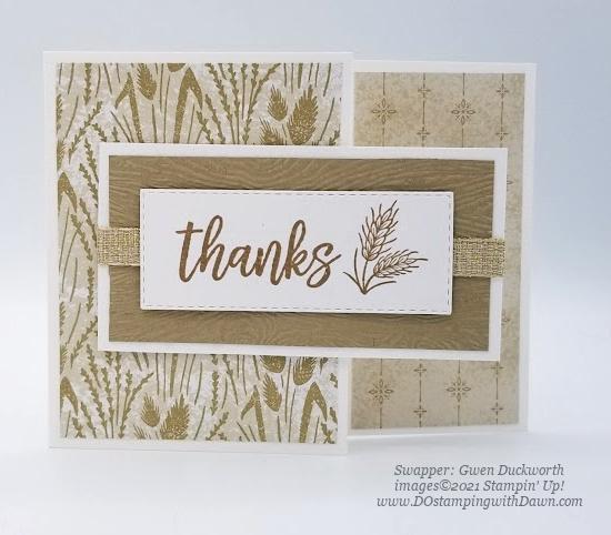 Stampin' Up! Harvest Meadow Suite swap cards shared by Dawn Olchefske #dostamping #stampinup (Gwen Duckworth)