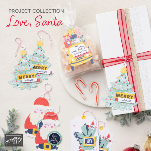 Stampin' Up! Love, Santa, Project Kit collection #dostamping